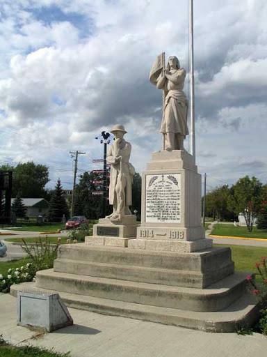 Historic Sites of Manitoba: St-Pierre-Jolys War Memorial (St-Pierre-Jolys)